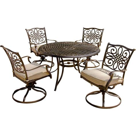 hanover traditions 5 patio outdoor dining set with 4