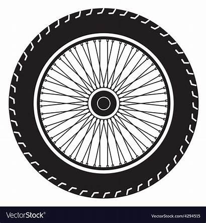 Motorcycle Wheel Vector Vectorstock Vectors Royalty