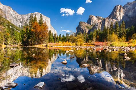 Mirror On Yosemite Valley In Fall