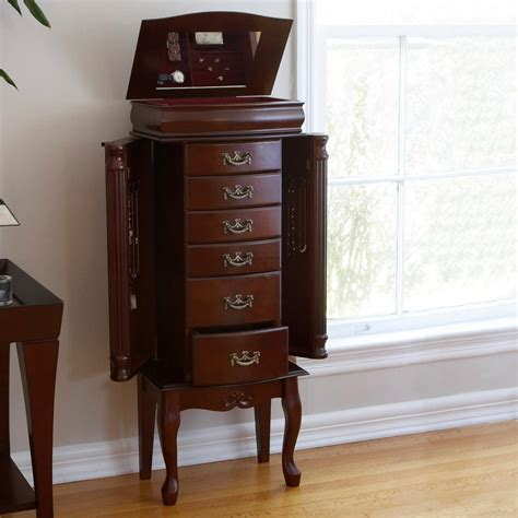 Jewelry Cabinet Armoire by Southern Enterprises Jewelry Armoire Classic