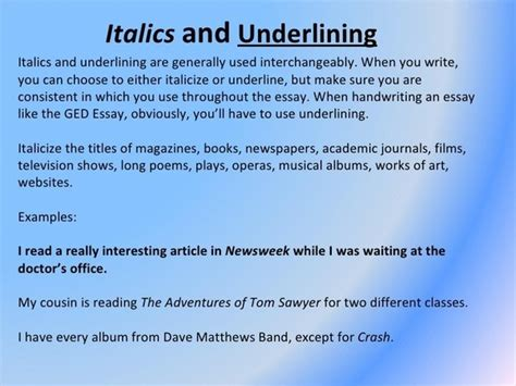 Should A Poem Be Italicized In An Essay by Do You Underline Essay Titles Quora