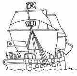 Pirate Coloring Ship Pages Flag Clipartqueen sketch template