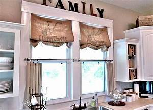 Vintage kitchen window treatments ideas for katie for Vintage kitchen window treatments