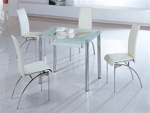 25 small dining table designs for small spaces for Small rectangle glass dining table