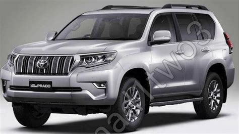 facelifted  toyota prado leaked interior  exterior