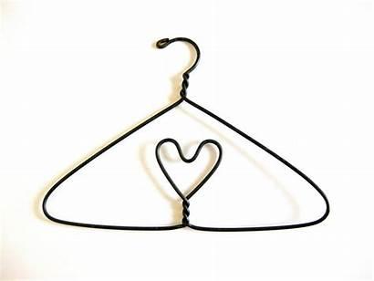 Hanger Clothes Heart Bold Coat Hangers Drawing