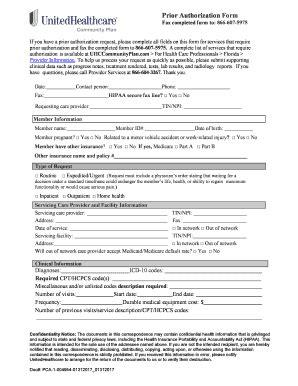 prior authorization fax request form unitedhealthcare