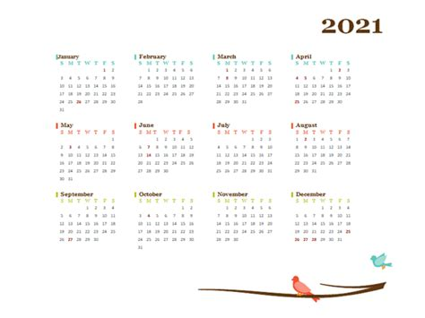 yearly singapore calendar design template