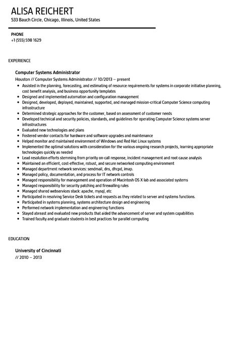 windows system administrator resume active directory
