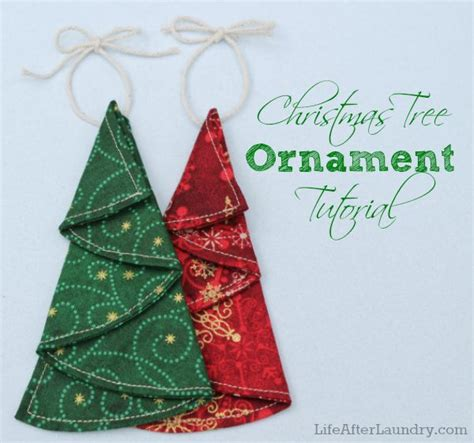 easy christmas tree ornaments sewing craft inspiration