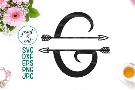 individual letter  monogram letters  arrows svg file split font  kartcreation