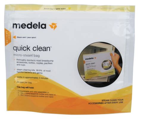 Amazon.com : Medela Quick Clean Micro-Steam Bags, 5 Count