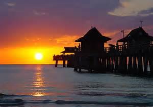 Naples Florida Pier at Sunset