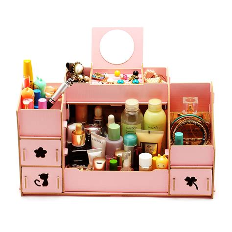diy makeup drawer organizer diy wooden makeup storage box eco friendly cosmetic sweet