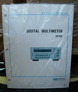 Hp 3478a Digital Multimeter Service Manual