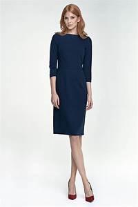 robe midi taille haute bleu marine so chic With superb bleu marine avec quelle couleur 1 robe bleu marine manches longues
