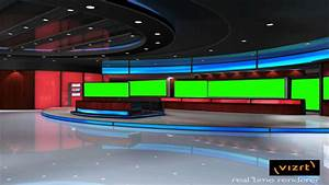 News Studio Hall In Green Screen Free Footage