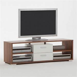 tv board nemo lowboard tv regal unterschrank tv hifi element in nussbaum wei ebay