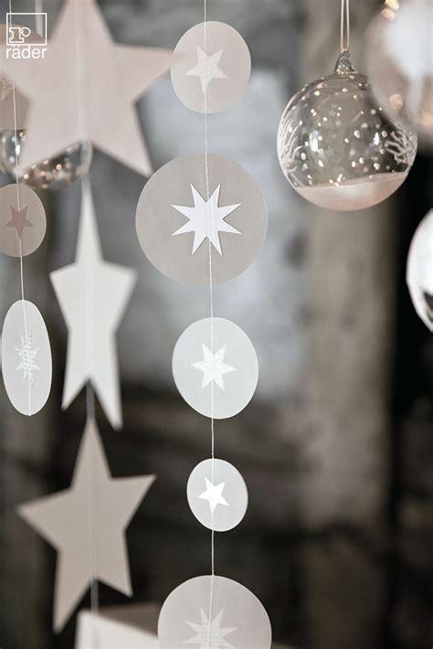 Fensterdeko Weihnachten Silber by Silber Wei 223 Transparentkette Aus Papier