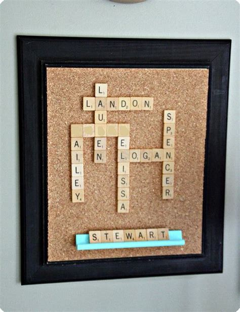 scrabble gallery wall glue scrabble tiles to form
