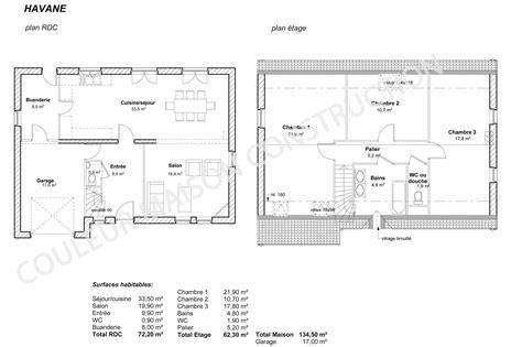 plan de maison 4 chambres plain pied gratuit couleur maison construction le plan de maison de notre
