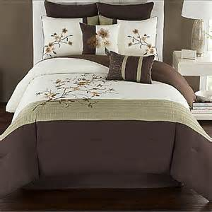 camisha comforter set in green chocolate www