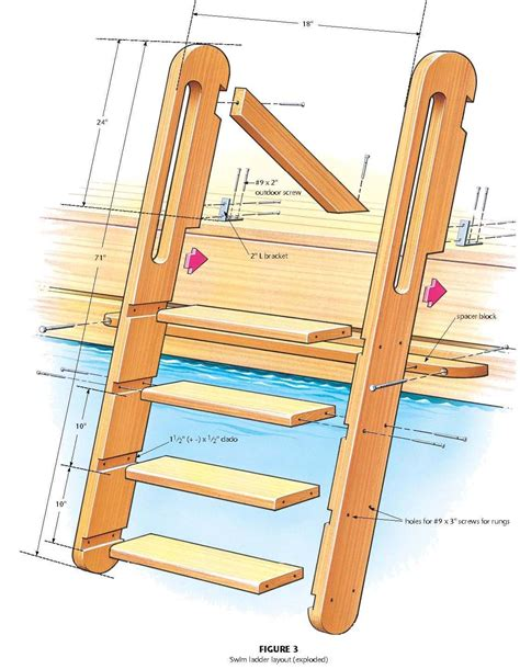 woodwork wooden ladder plans  plans