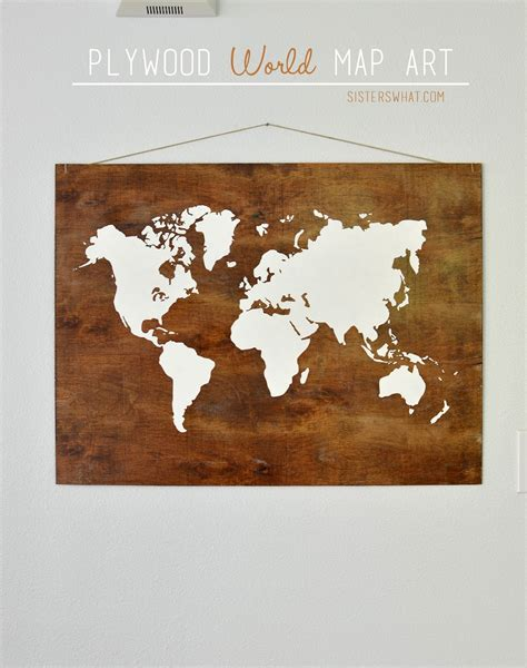 plywood world map may challenge