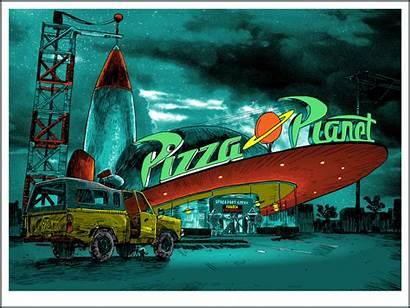 Toy Story Tim Doyle Spaceship 1995 Pizza