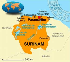 Suriname Mapa Capital