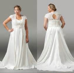 wedding gowns plus size plus size wedding dresses lace pleated 2016 white capped sleeve a line bridal