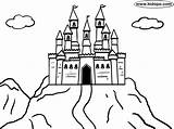 Castle Mountain Coloring Pages Castles Bouncy Drawing Easy Kidopo Printable Getdrawings Huge Mountains Knight English sketch template