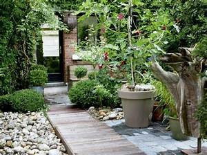 allee jardin en ipee patios pinterest arbres With attractive exemple d amenagement de jardin 7 murets au jardin