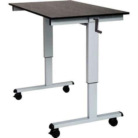 adjustable stand up desk luxor 48 quot crank adjustable stand up desk standcf48 ag bo