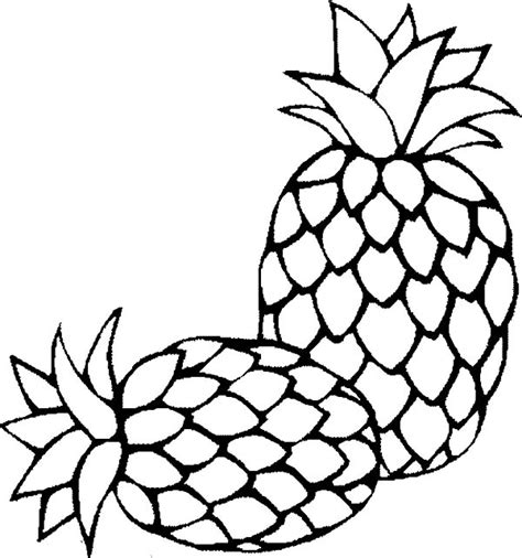 Kleurplaat Annanas by Pineapple Coloring Pages 360coloringpages
