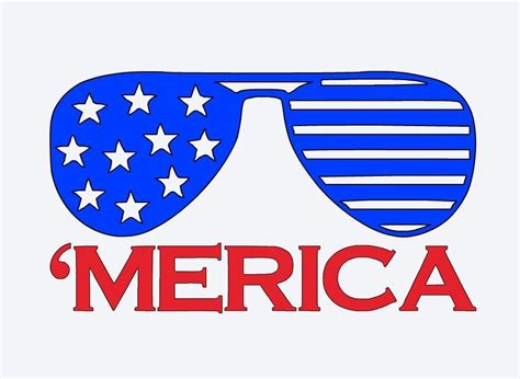 Digital usa glasses clip art in svg, eps, dxf , ai and png file format. America Patriotic Sunglasses TV JDM Vinyl Sticker Decal ...