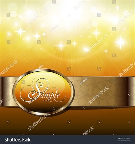 abstract background sunny gold banner stock vector