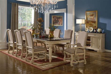 descanso white wash formal dining room collection