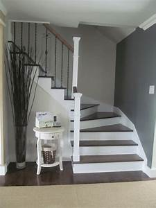 Entrance/foyer - Benjamin Moore veranda/anchor gray