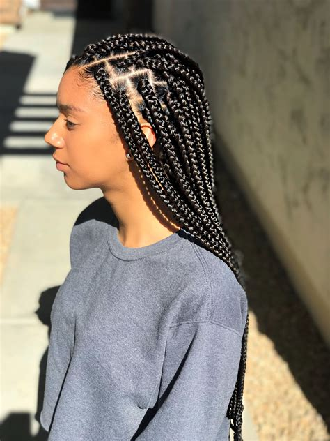 mediumsmall sized box braids blackbrown box braids
