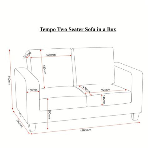 Two Seater Dimensions seconique tempo 2 seater sofa in black furniture123