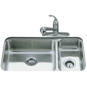 kohler undermount stainless steel kitchen sinks k3352 na undertone stainless steel undermount 9652