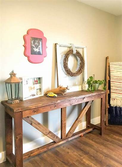 Diy Table Console Projects Wood 2x4 Farmhouse
