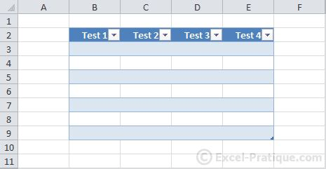 excel  tables colors styles