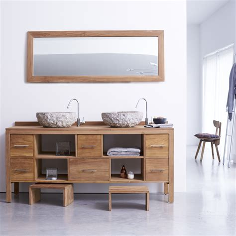 meuble pour salle de bain en teck meubles layang duo sur