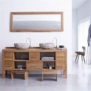 Salle De Bain Teck : meuble pour salle de bain en teck meubles layang duo sur ~ Edinachiropracticcenter.com Idées de Décoration
