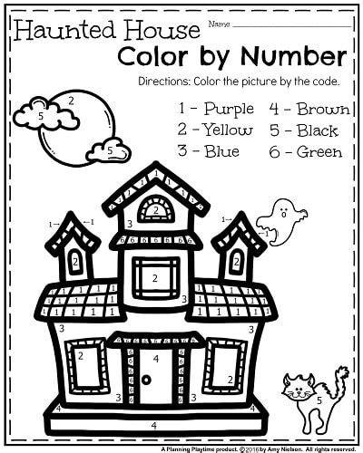 october kindergarten worksheets  images halloween