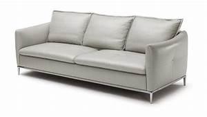 Canape cuir halden 3 places pieds acier inoxydable for Formation decorateur interieur avec canapé deux places cuir
