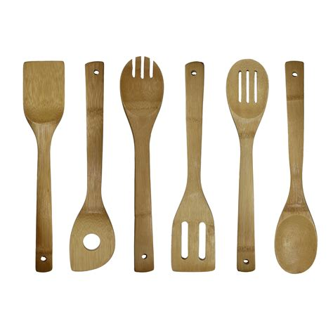 cooking utensil kitchen bamboo amazon utensils oceanstar piece unique different complete dining larger