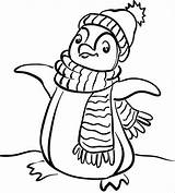 Penguin Coloring Igloo Pages Alphabet Clipart sketch template